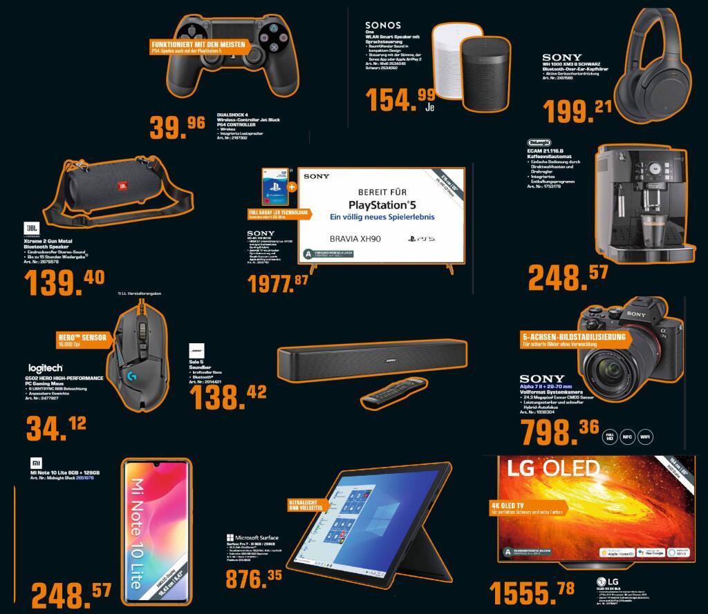 Sony DualShock 4 V2 Controller - viele Farben - 39,96€   Xiaomi Mi Note 10 Lite 128Gb - 248,57€   JBL Xtreme 2 - 139,40€   u.a.