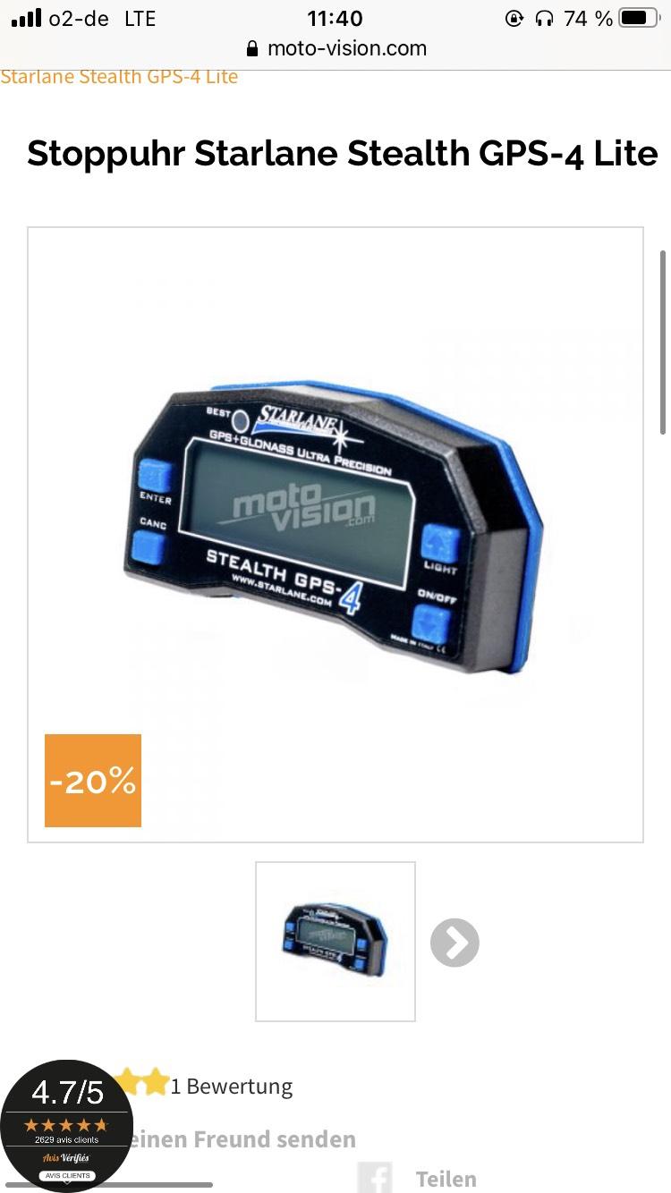 Starlane GPS 4 Lite und Data