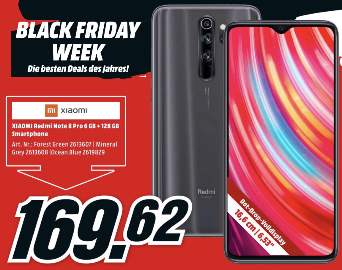 Xiaomi Redmi Note 8 Pro 6GB 128GB 159,62€ / Samsung GU65TU7079 65 Zoll 534,91 / JBL Reflect Flow Kopfhörer 77,01€ / Roccat Vulcan 120 89,68€