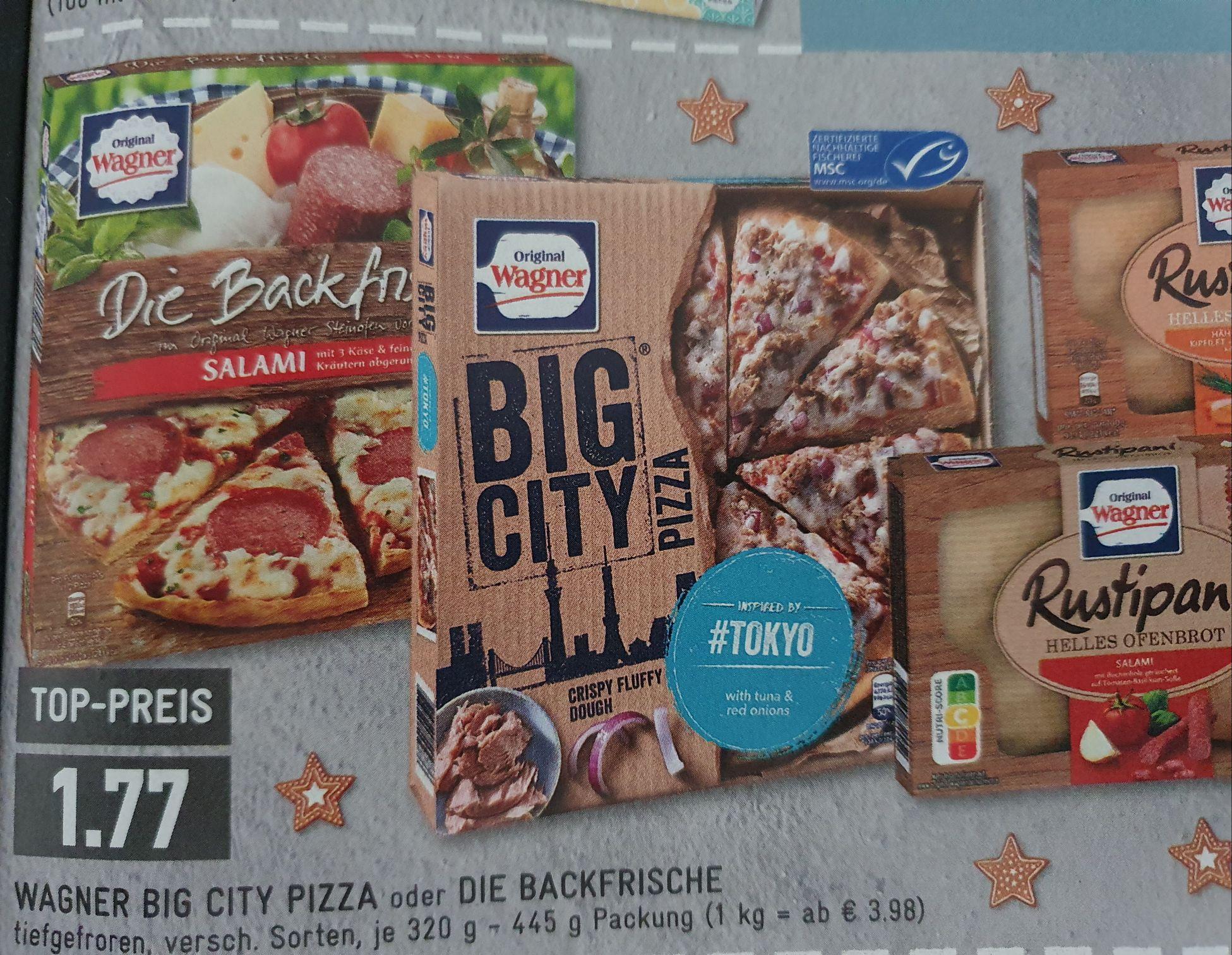 (Edeka) original Wagner Big City Pizza für 1,77 durch Scondoo Cashback effektiv 1,02€