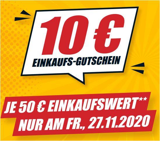 10 Euro Einkaufsgutschein bei einem Einkauf ab 50 Euro [B1-Discount Baumarkt (27.11.20)]