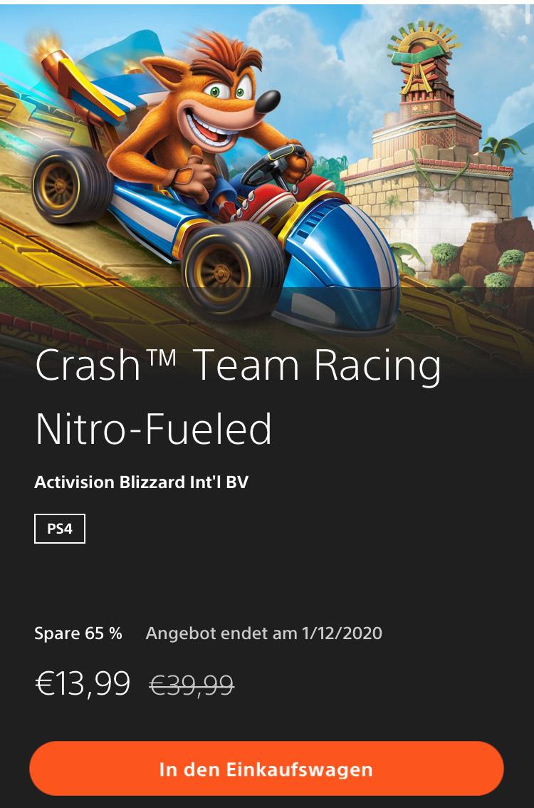 Crash Team Racing Nitro-Fueled für PS4 mit neuem Bestpreis im Store