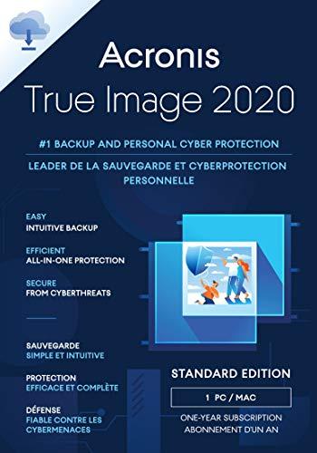 Acronis True Image 2020 | 1 PC/Mac | Cyber Protection | Backup | kostenloses Upgrade auf 2021 | (3/5 -Geräte Versionen verfügbar)