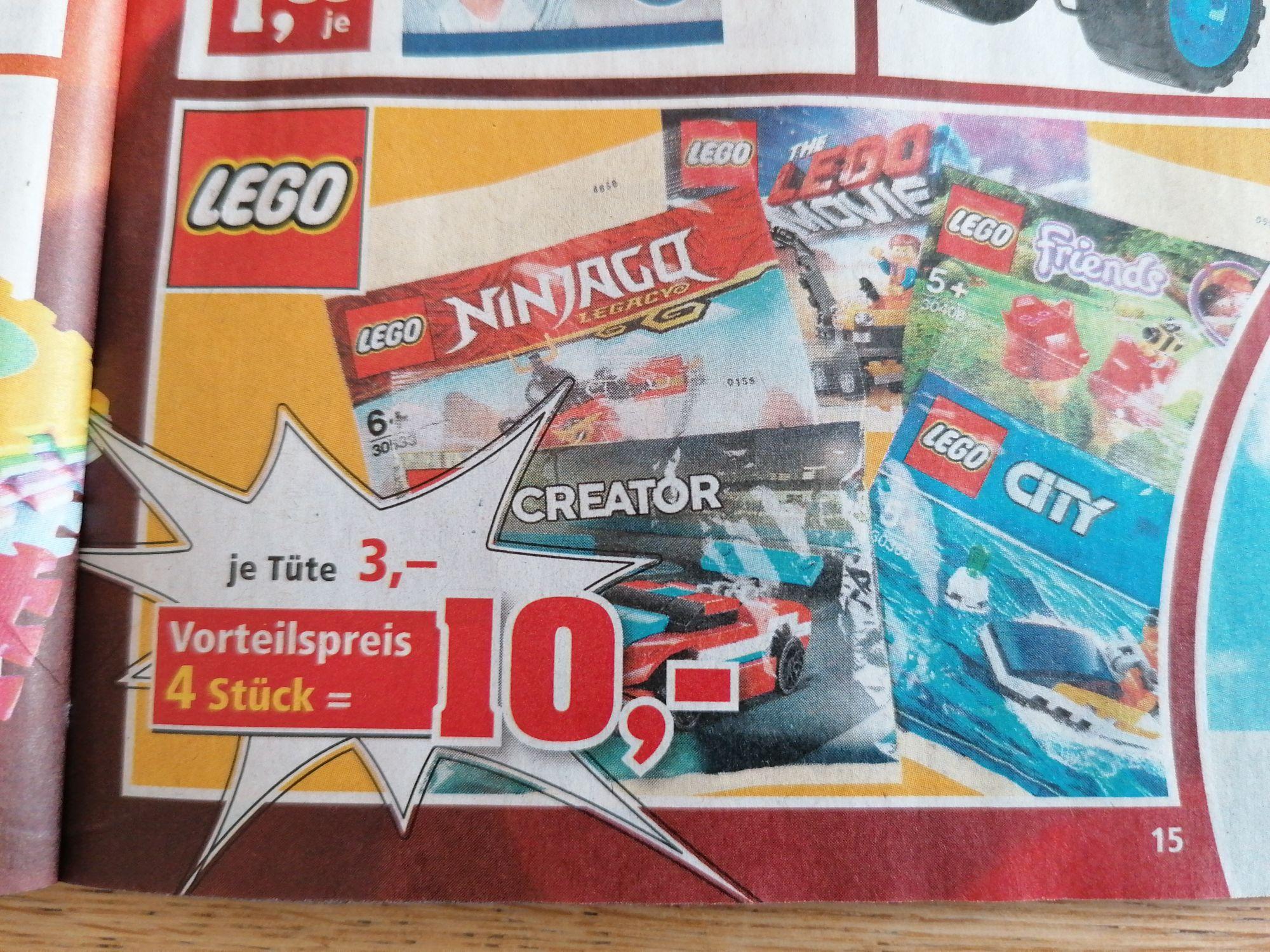 Verschiedene Lego Polybags 4 Stück