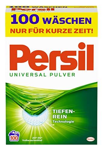 Persil Universal Pulver, Vollwaschmittel, 100 Waschladungen [Amazon Prime]
