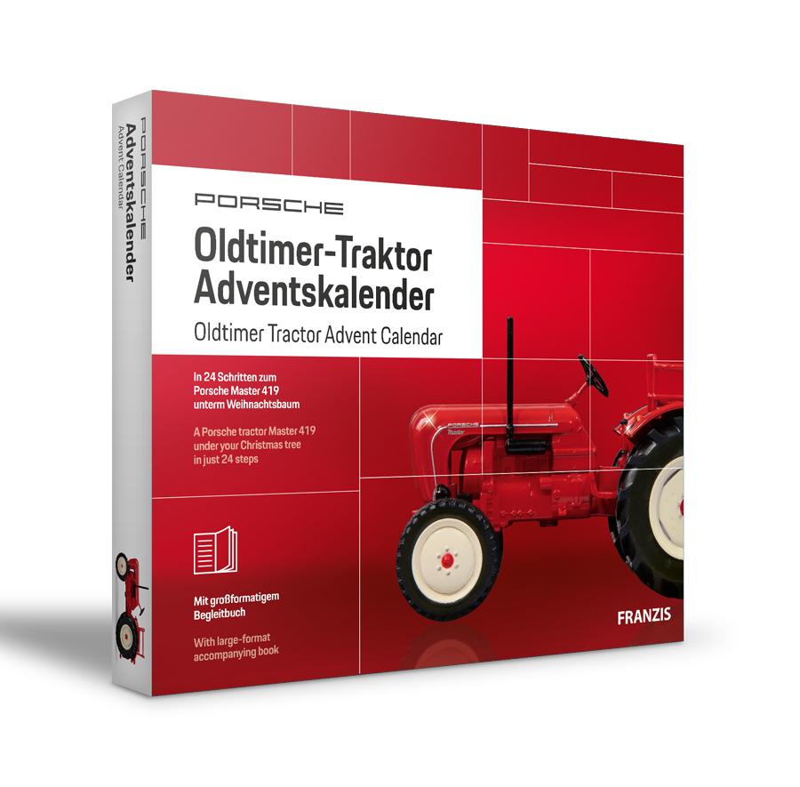 Porsche Oldtimer-Traktor Adventskalender |in 24 Schritten zum Porsche Master 419 unterm Weihnachtsbaum | Für Sammler und Modellbau-Liebhaber