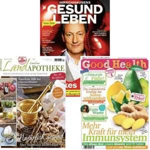 Gesundheitsmagazine im Jahresabo mit Rabatt: Good Health für 22,72 € | Hirschhausens Stern Gesund Leben für 19,36 € | Landapotheke 15,68 €