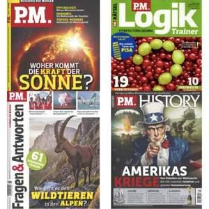 PM Magazine im Abo mit Rabatt: PM Magazin für 34,59€ - PM History 40,40€ - PM Fragen & Antworten für 32,80€ - PM Logik für 18,52€