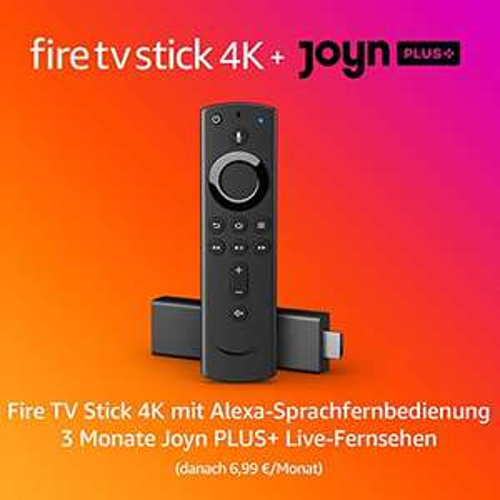 Fire TV Stick 4k mit 3 Monaten Joyn+ (Neukunden) auch Normal 24,36€ und Lite 19,48€