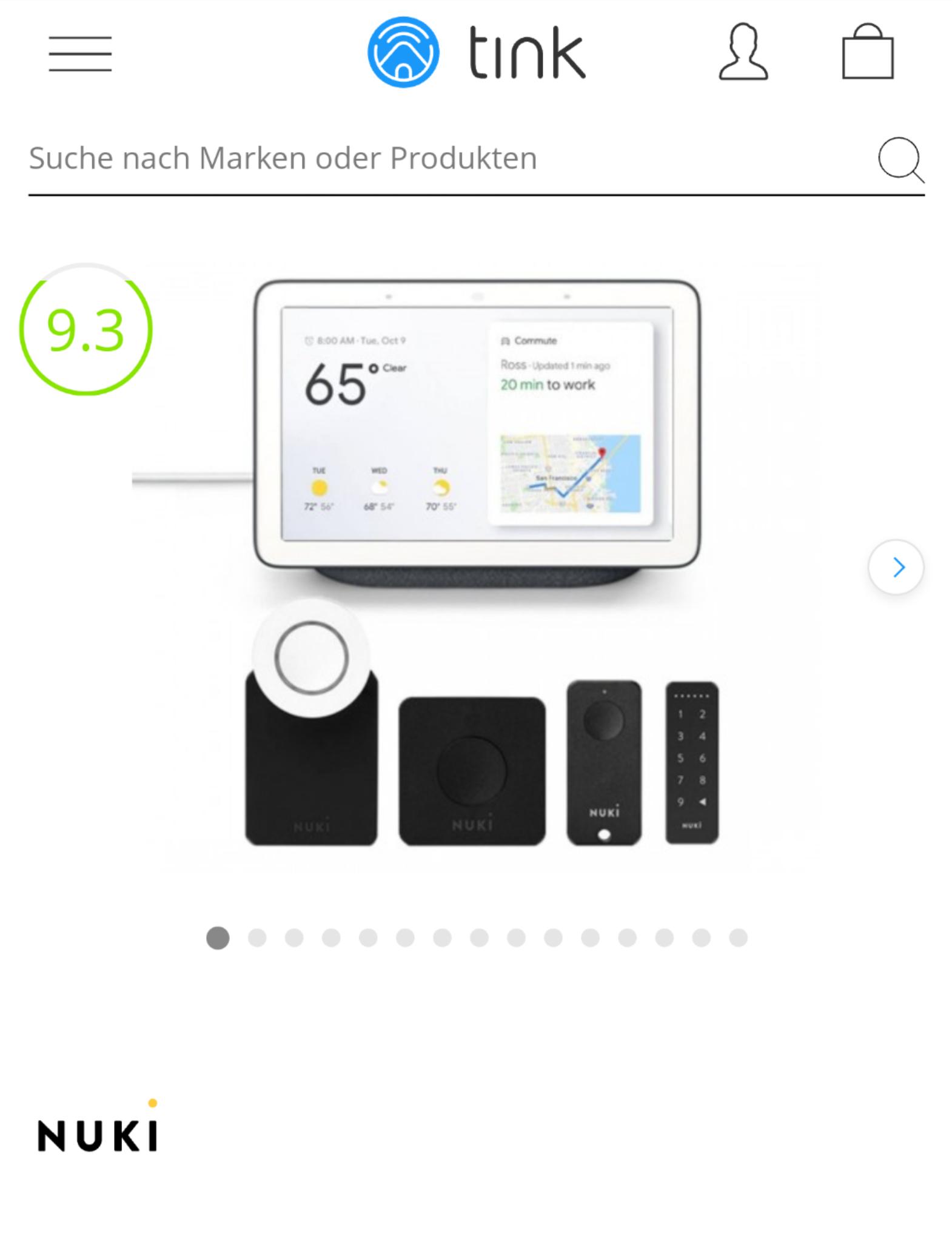 Nuki Komplett Set + Google Nest Hub