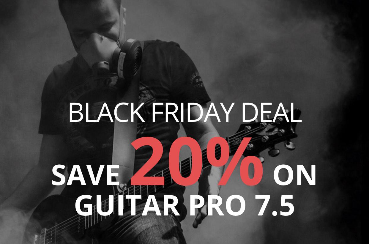 Guitar Pro - 20% Black Friday Rabatt auf Download Lizenz