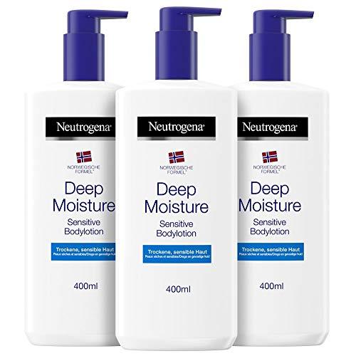 Neutrogena Deep Moisture Bodylotion Sensitive 3x 400ml zur Cyber Week