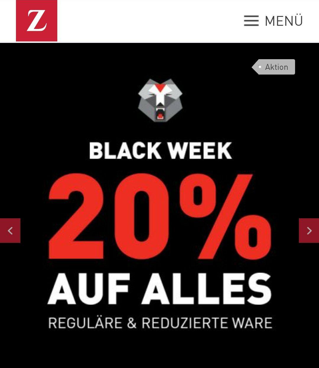 BLACK Week bei Zinser- 20% auf alles, auch Reduziertes (online und in den Filialen)