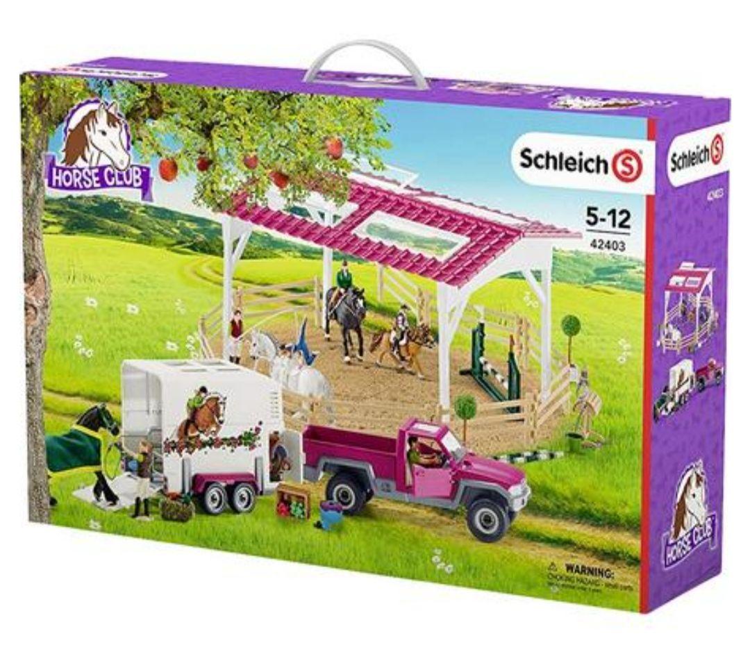Schleich - Reitschule mit Pick-up und Anhänger (42403)