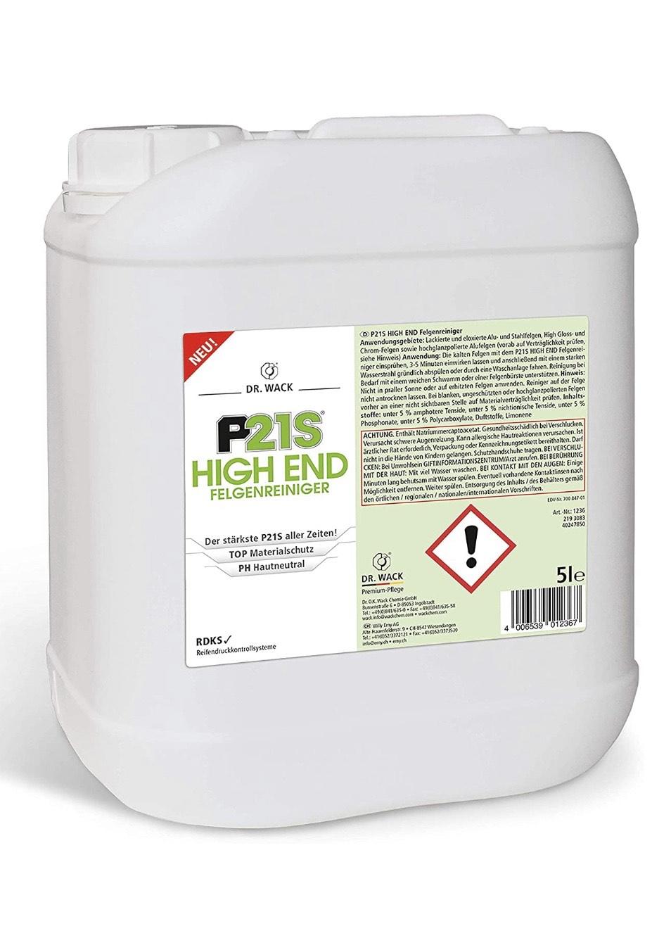 [Amazon] Dr. Wack - P21S HIGH END Felgenreiniger - 5 Liter