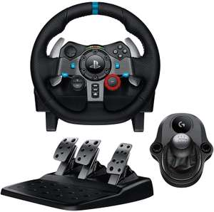 Logitech G29/G920 Driving Force Gaming Rennlenkrad inkl. Pedale & Shifter (Force Feedback, 900° Lenkbereich, für Playstation, Xbox & PC)