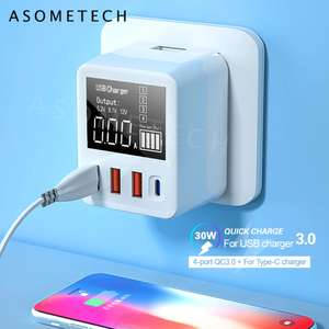 40W Quick Charge QC 3,0 with PD USB Ladegerät mit Display