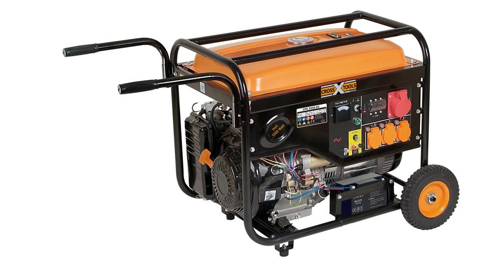 [norma24] Cross Tools Benzin - Stromerzeuger CPG 5500 EV | 3x 230V | 1x 400V | 1x 12V