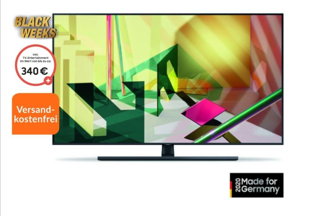 Samsung QLED GQ75Q70, 75 Zoll mit 100 Hz 4K UHD, Smart TV, Sprachsteuerung
