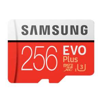 256 GB EVO Plus microSD-Karte (2020) + SD Adapter