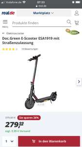 [Real] E-Scooter DocGreen ESA 1919