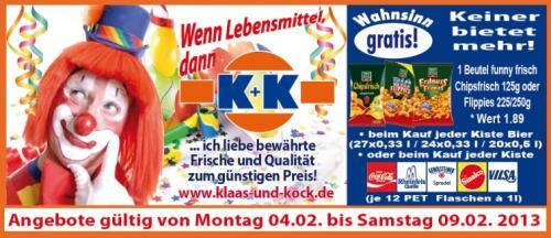 2 Kisten Krombacher o. Veltins 20x0,5l/24x0,33l inkl 2xChipsfrisch 175gr für 22€ bei K&K (MS-Hiltrup)