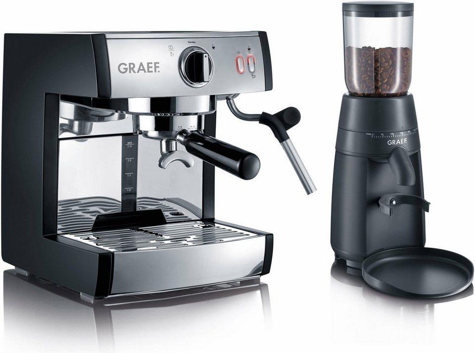 Graef Siebträgermaschine Espressomaschine pivalla SET, inkl. Kaffeemühle CM702