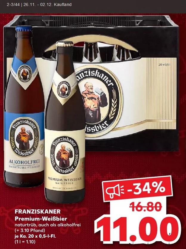 [Kaufland] Franziskaner 20x0.5L Kasten
