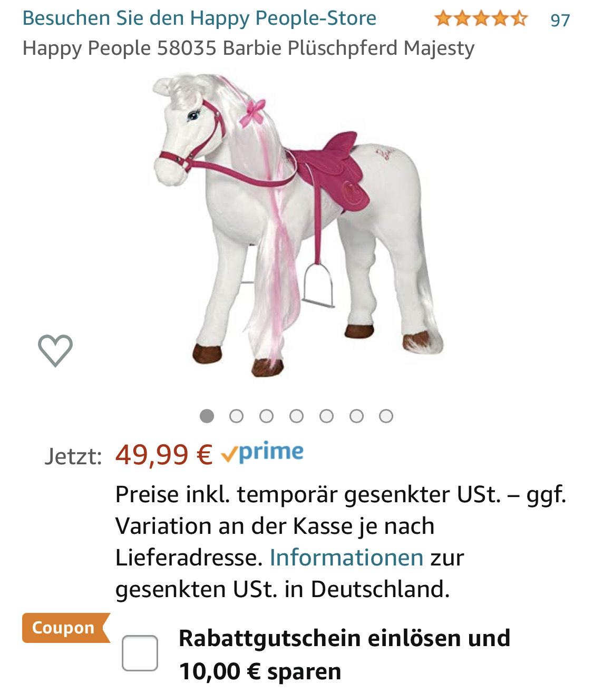 Happy People Barbie Pferd