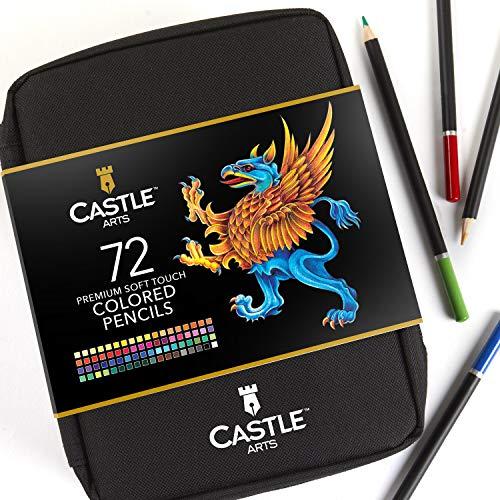 [Blitzangebot amazon] Castle Art Supplies – 72-teiliges Buntstifte-Set im Reißverschluss-Etui