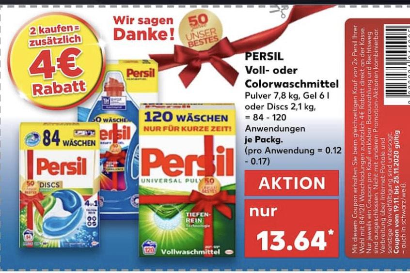2 Packungen Persil Voll- oder Colorwaschmittel