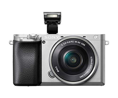 Sony Alpha 6100 E-Mount Systemkamera 24 MP inkl. Objektiv SEL-P1650 OSS in silber (ILCE6100LS.CEC)