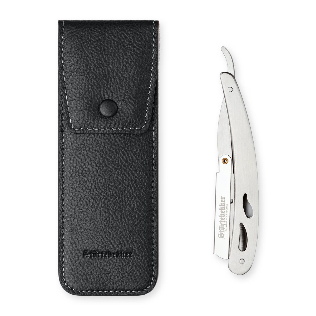 Rasiermesser Silber mit Wechselklinge / Shavette / Störtebekker Shaving Accessories