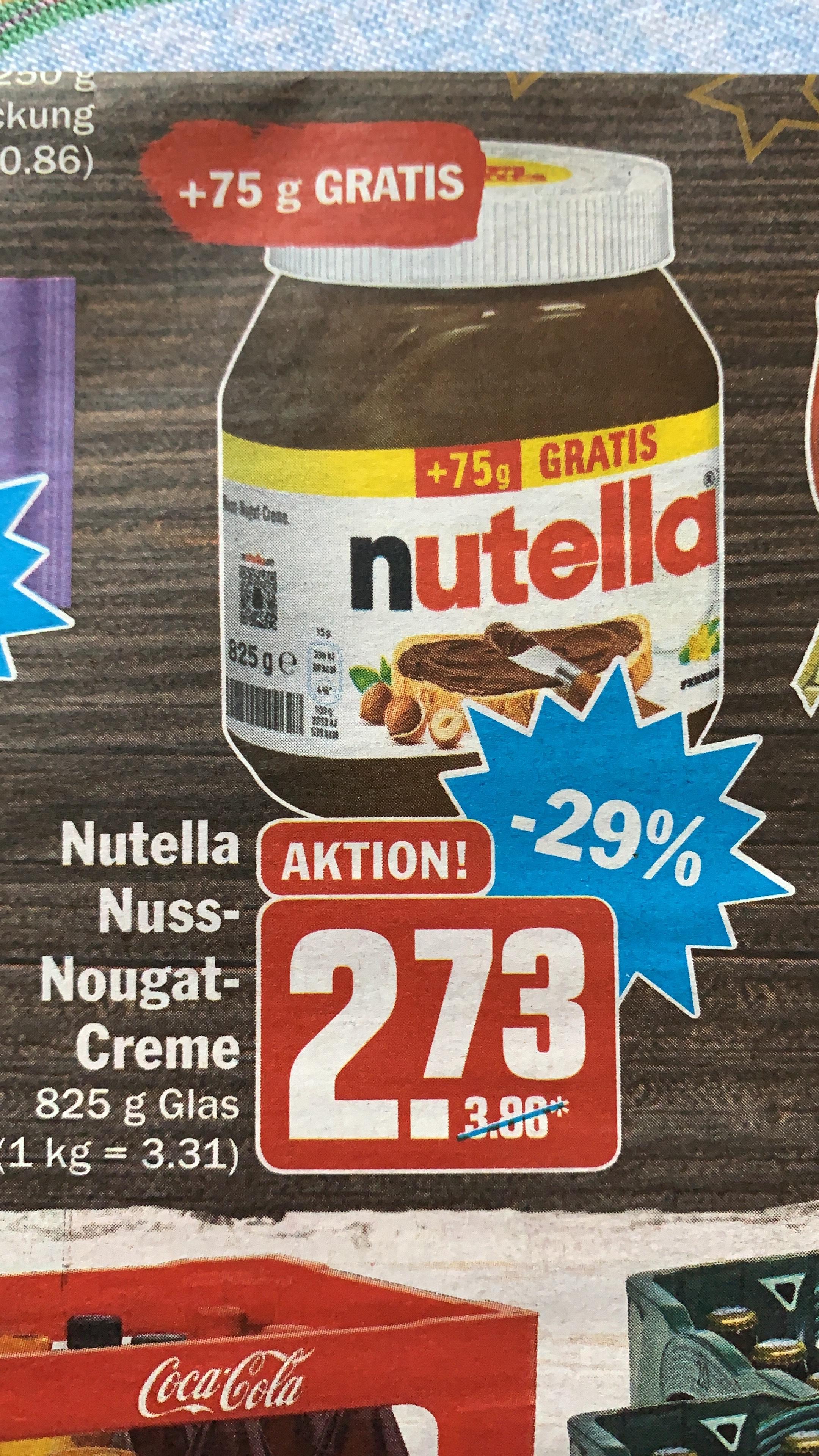 [Lokal 63225 Langen - HiT] Nutella 750g+75g=825g