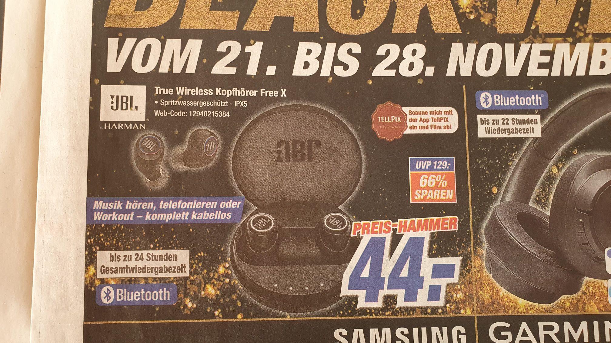 [Expert] JBL Free X Kopfhörer für nur 44 Euro