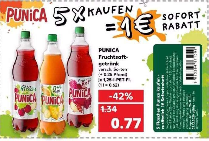 [Kaufland] 1€ Sofortrabatt bei Kauf von 5 Punica 1,25l Flaschen ab 26.11.