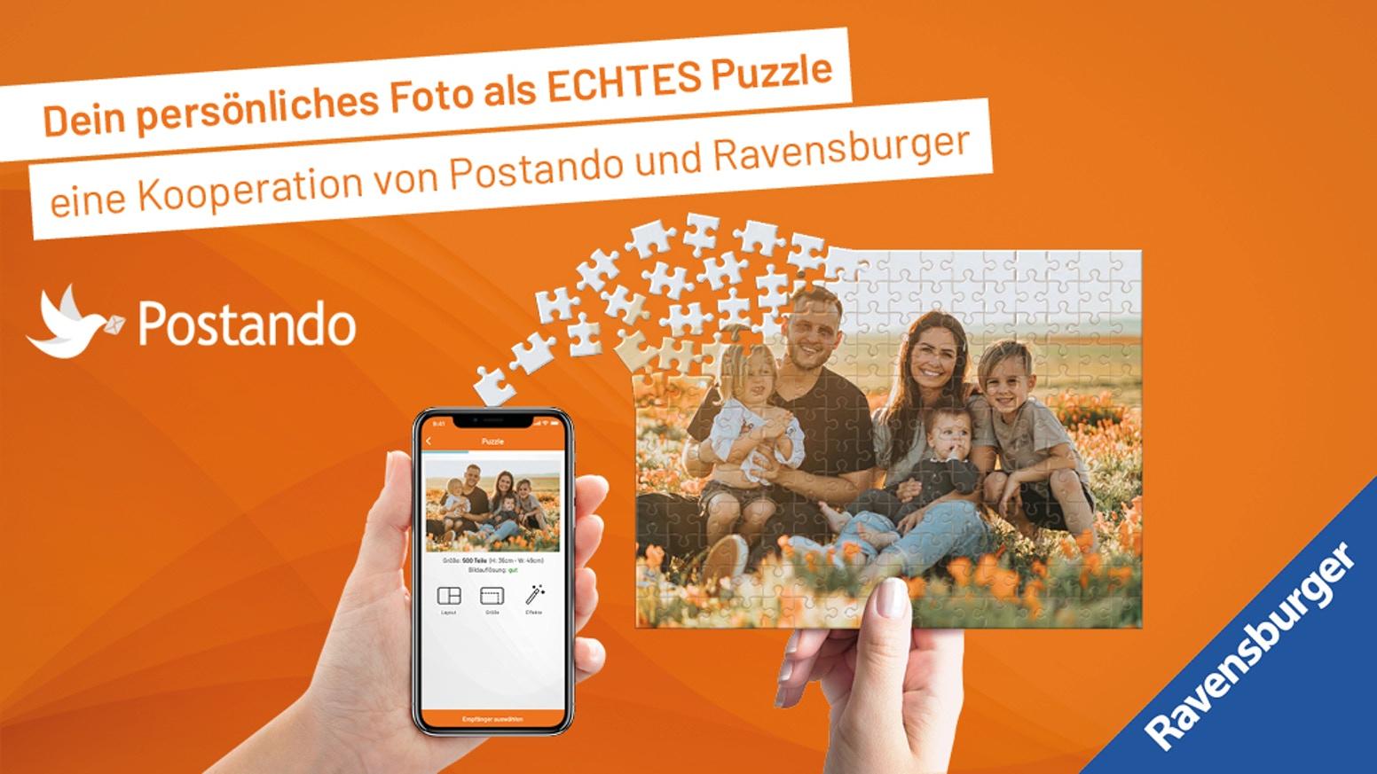 Dein Foto als echtes Ravensburger Puzzle