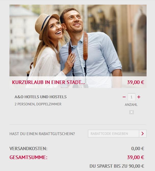 A&O Hotel Gutschein - 3 Tage Kurzurlaub in einer Stadt deiner Wahl: 21 Städte - 6 Länder - 36 Hotels