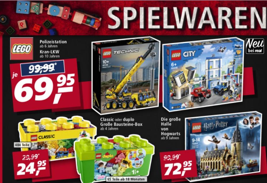 [Real F&F] LEGO Technic Kran-LKW 42108 u. 75954 Harry Potter Halle von Hogwarts