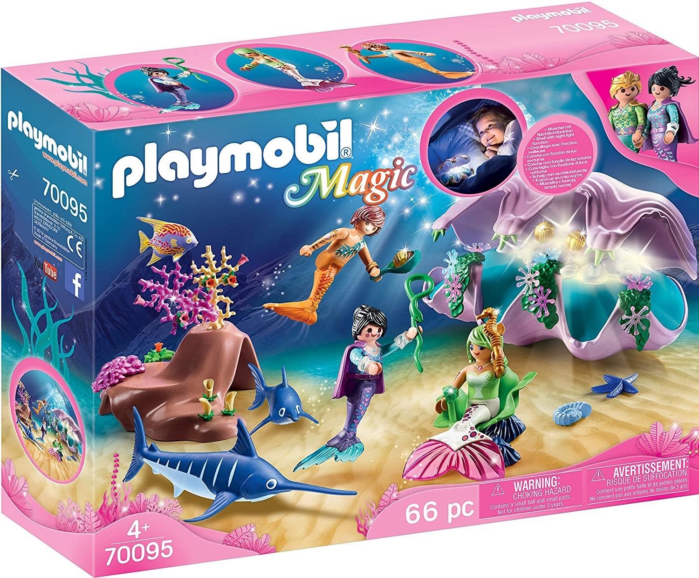 PLAYMOBIL Magic 70095 - Nachtlicht Perlenmuschel - Weihnachten kommt