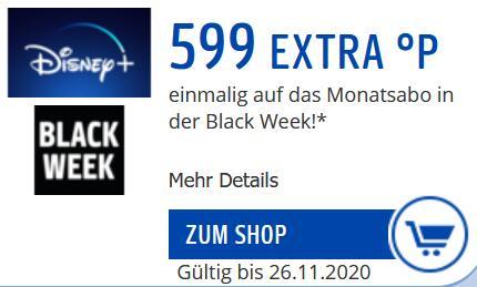 [Payback] Disney+ 599 Extra Punkte in black week auf 1 Monat Abo Summe 699 Punkte.