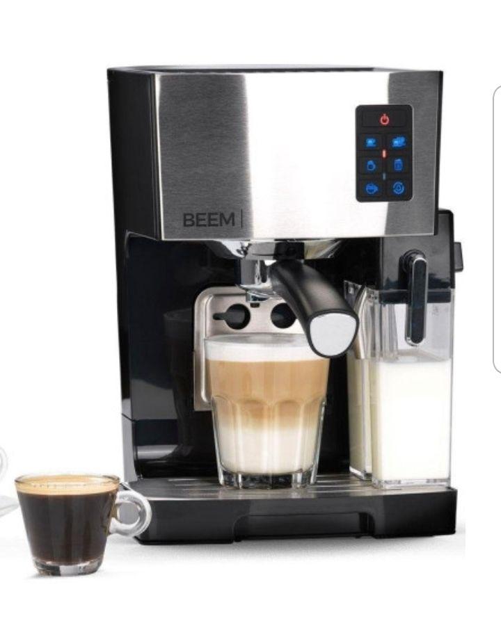 Beem Classico | Espresso Siebträgermaschine | Kaffeemaschine | 19 Bar | integr. Milchtank | Dampfdüse | 1450 W | Espressomaschine