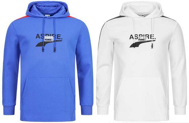 """PUMA Herren Hoodie """"Avenir"""" in blau für 24.99€, weiß für 29.99€ + 3.95€ VSK (Größe S - XL) [SportSpar]"""
