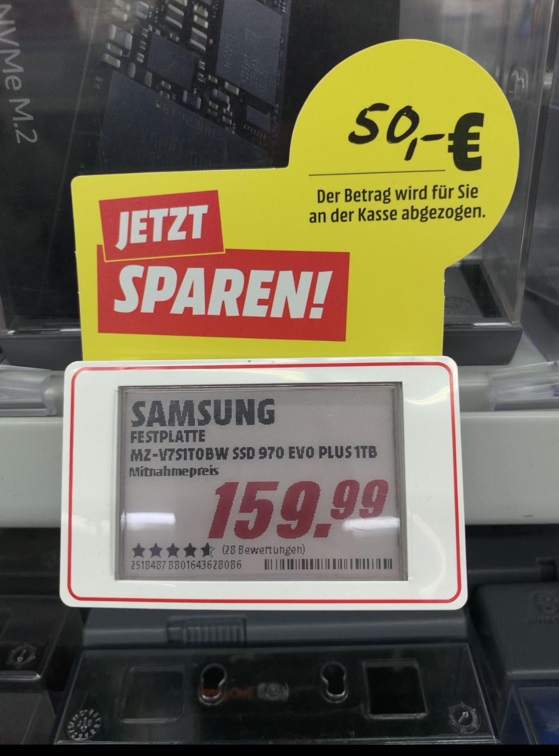 Samsung 970 EVO Plus 1TB *Lokal MM Lippstadt*