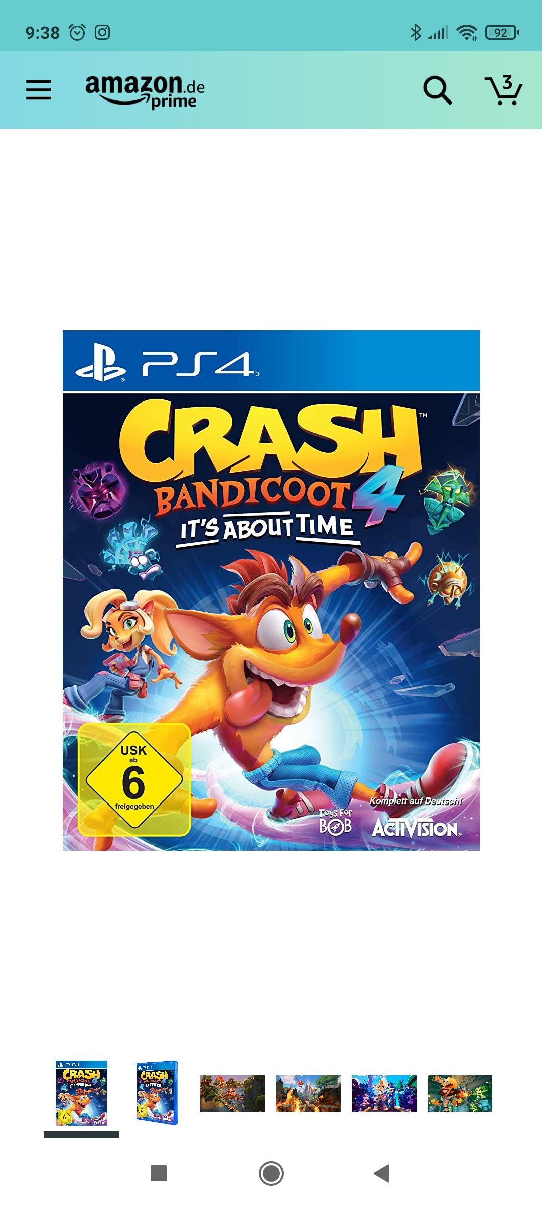Crash Bandicoot 4 PS4 It's about time zum Bestpreis bei Amazon