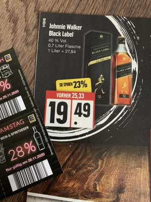 Johnnie Walker Black Label Whisky bei Edeka