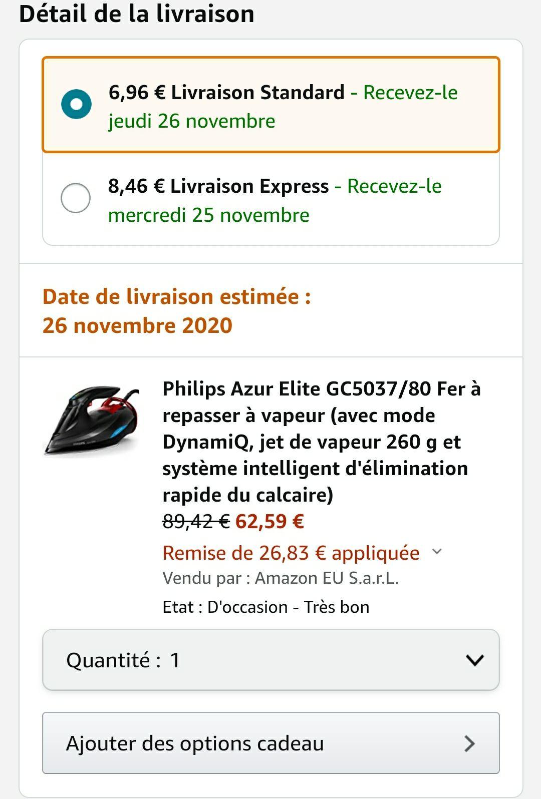 Philips Azur Elite GC5037/80 - Zustand: Sehr gut [Warehouse Deal]