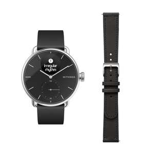 Withings ScanWatch 38mm inkl. Lederarmband
