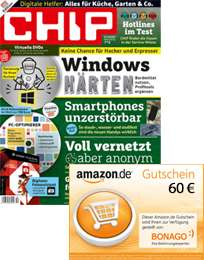 CHIP / CHIP Foto Video / N-Photo verschenken und bis zu 60€ Amazon Gutschein bekommen