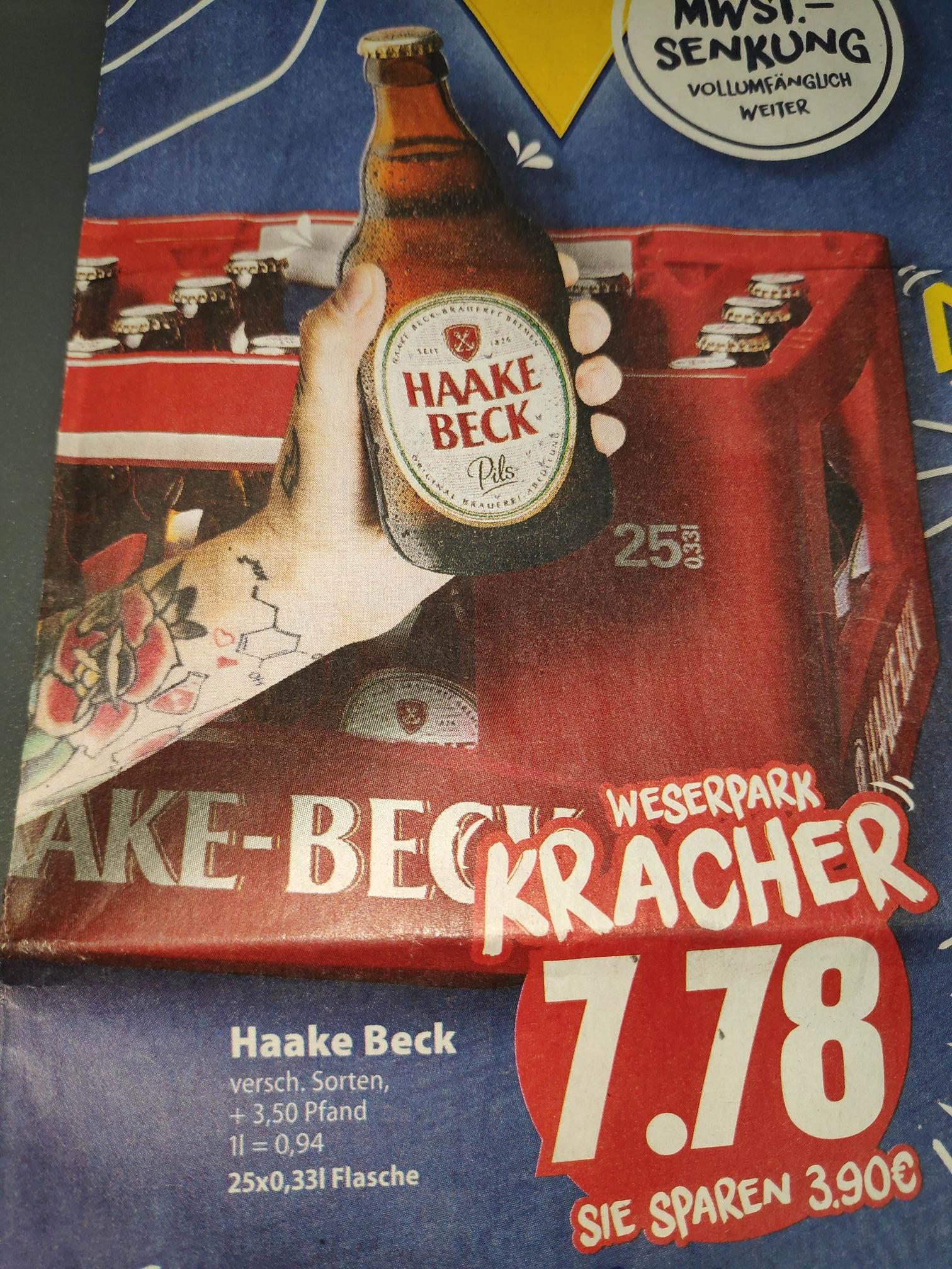 (Lokal Bremen) Weserpark Edeka-Markt , Haake Beck Bier